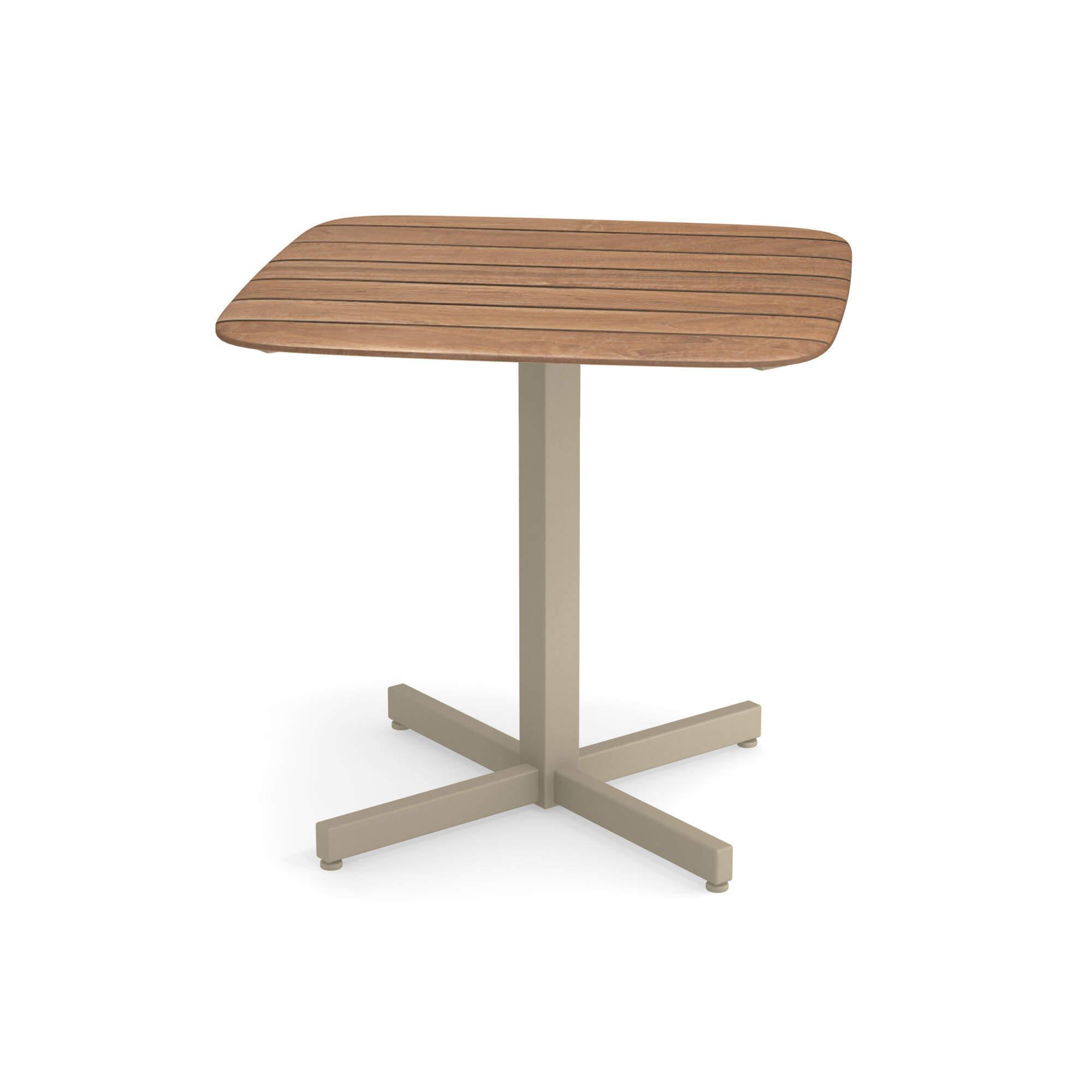 Table carrée plateau en teck 79x79 pour jardin / extérieur ...
