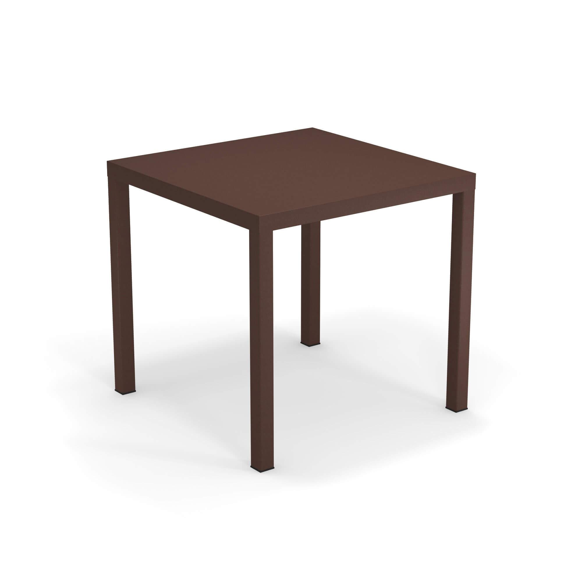Tavoli Emu Da Esterno.Tavolo Quadrato 80x80 Da Giardino Esterno In Acciaio Collezione