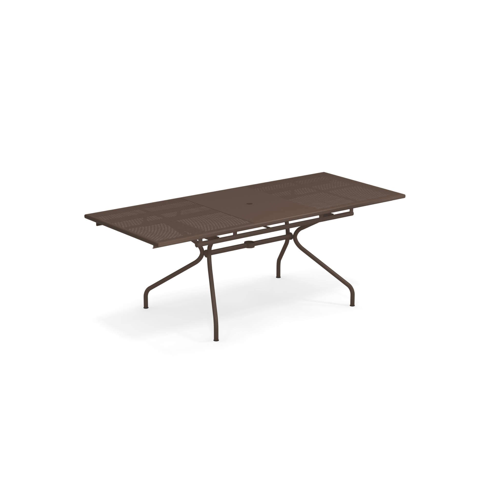 Table extensible 160+50x90 pour jardin / extérieur en acier ...
