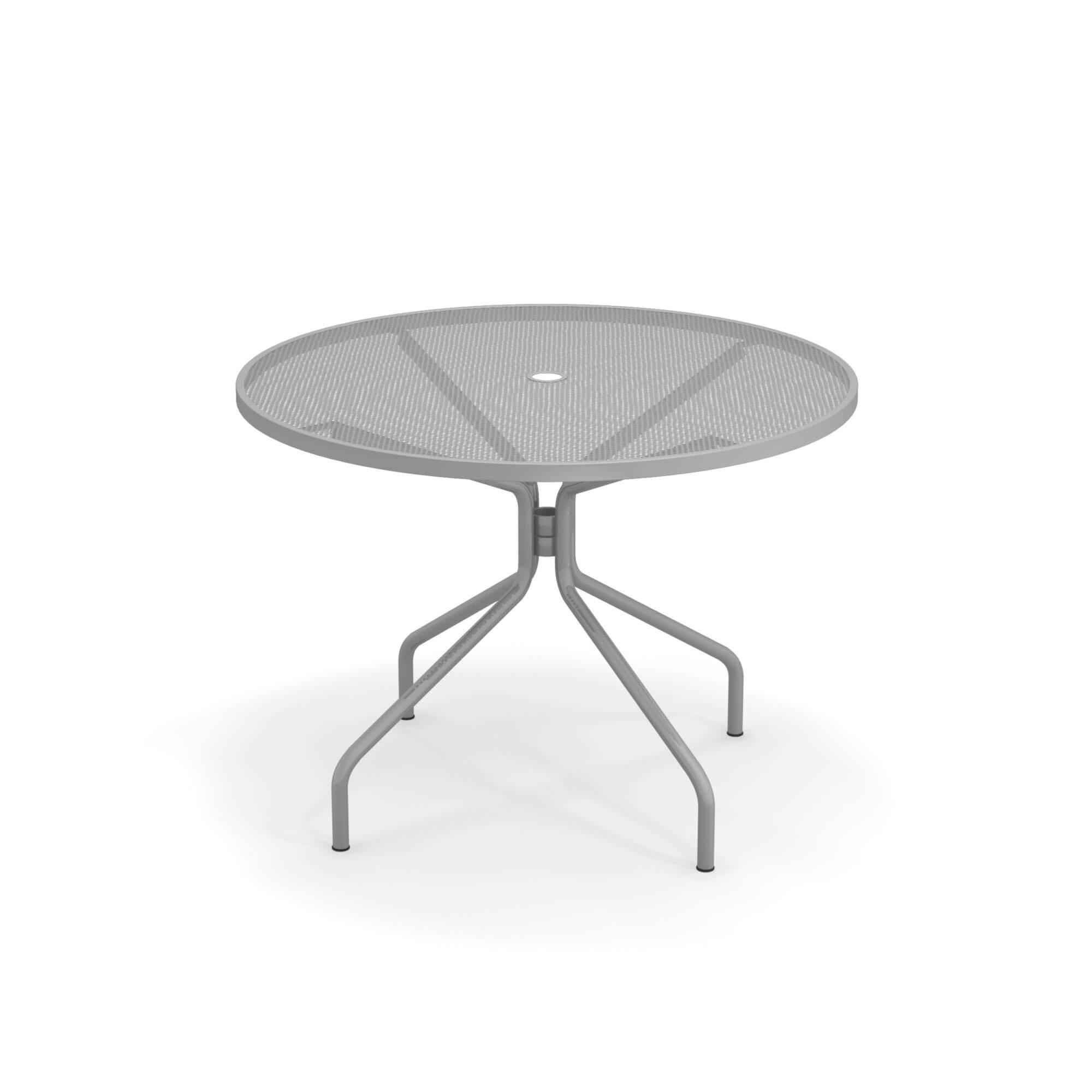 Table ronde Ø106 pour jardin / extérieur en acier - Collection Cambi