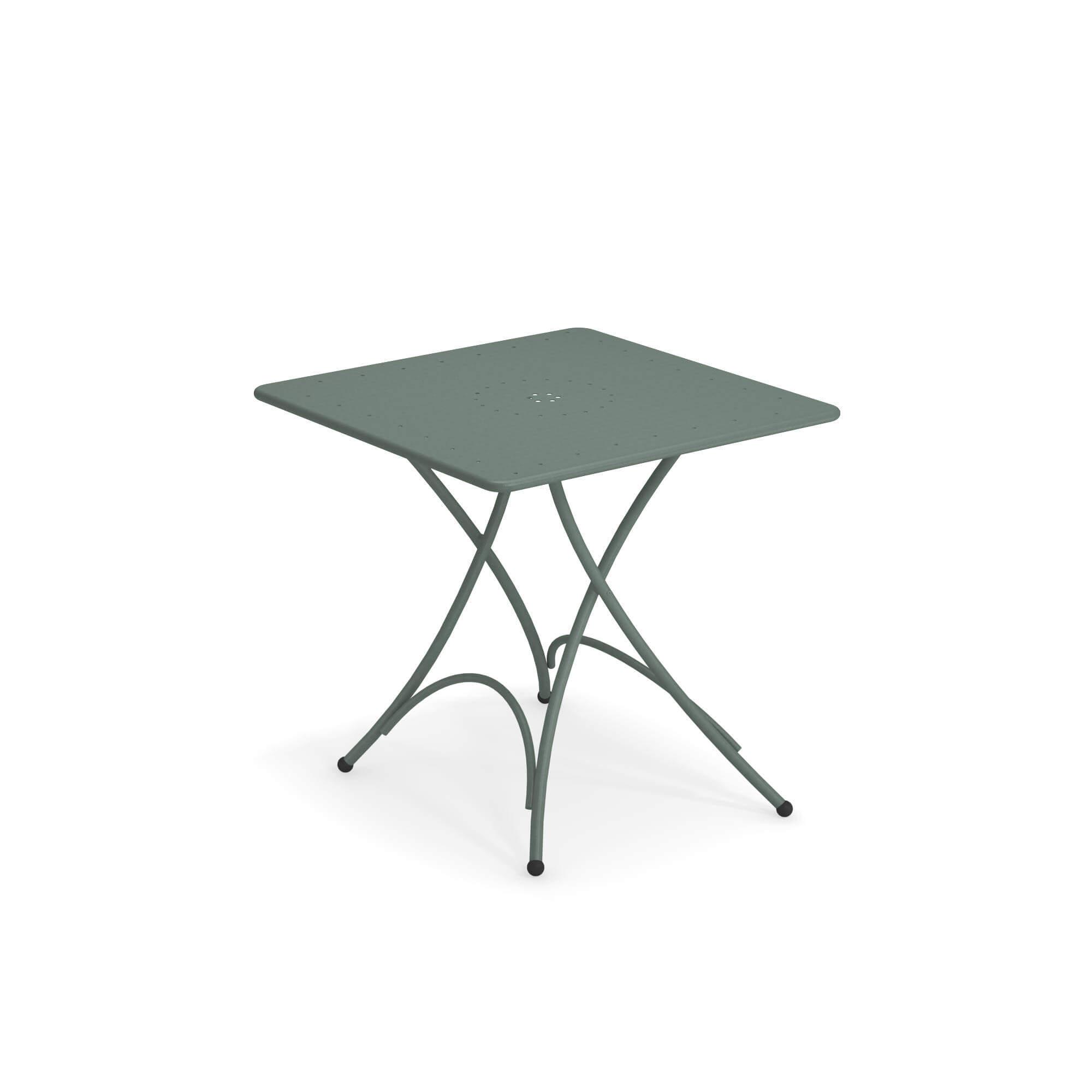 Tavoli Da Giardino Emu.Tavolo Quadrato Pieghevole 76x76 Da Giardino Esterno In Acciaio