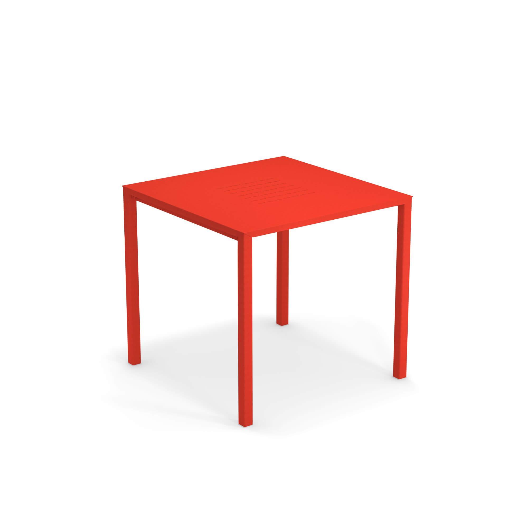 Tavoli Da Esterno Emu.Tavolo Quadrato Impilabile 80x80 Da Giardino Esterno In Alluminio