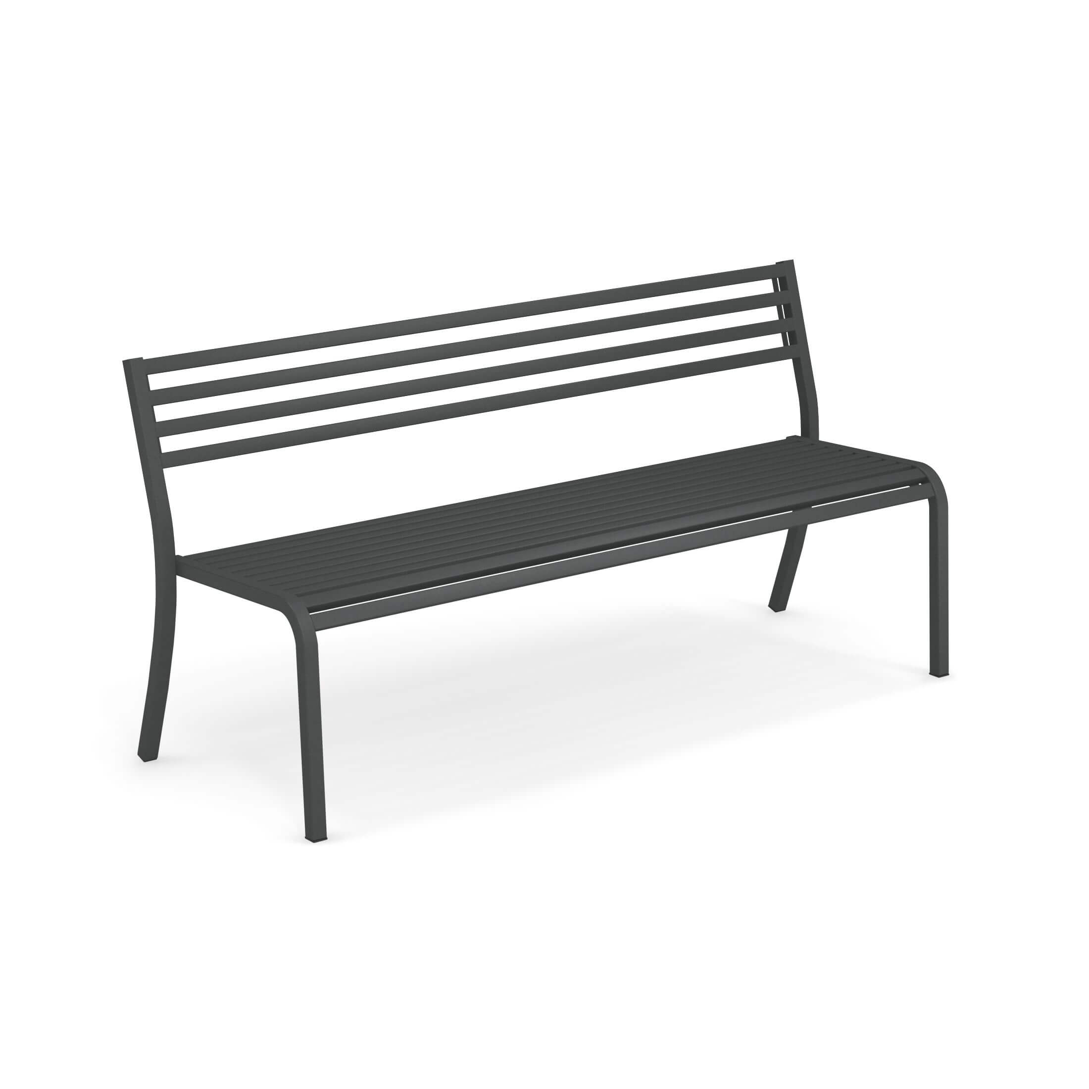 Stupendous Garden Bench Outside In Steel Collection Segno Andrewgaddart Wooden Chair Designs For Living Room Andrewgaddartcom