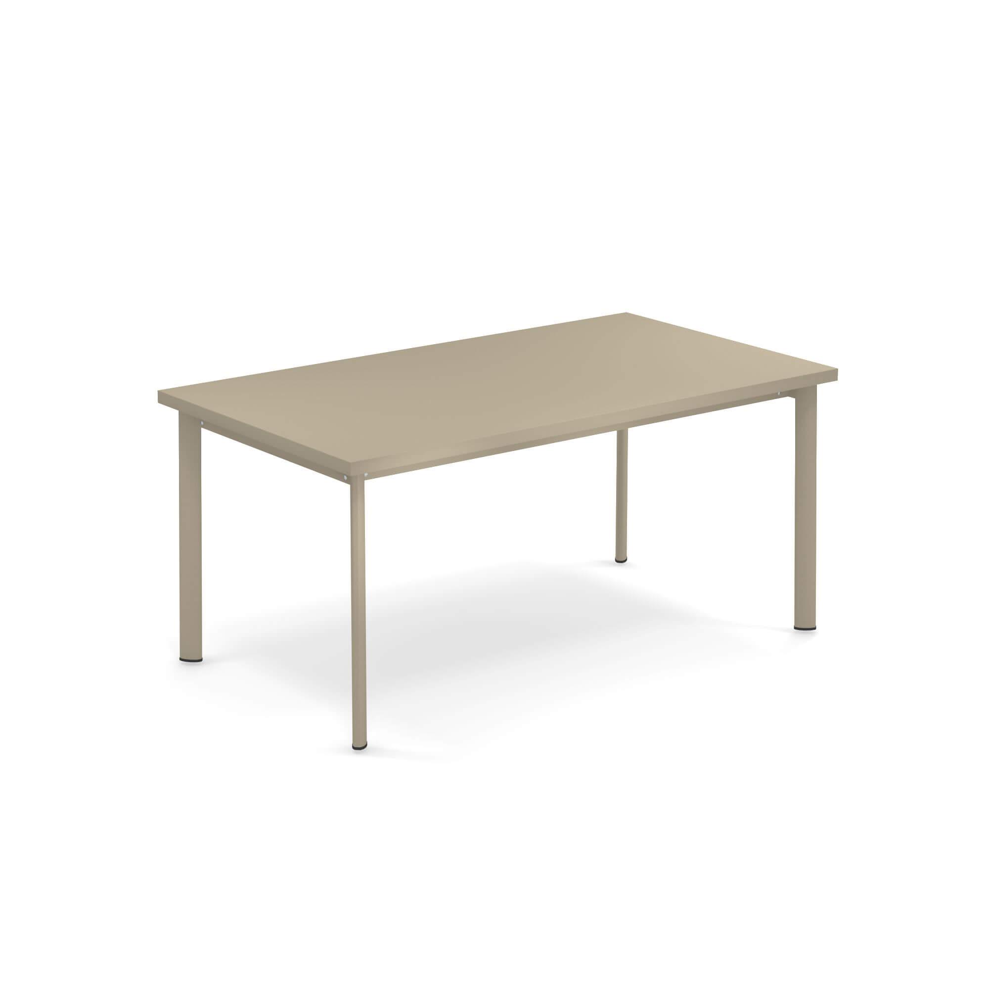 Tavoli Emu Da Esterno.Tavolo Rettangolare 160x90 Da Giardino Esterno In Acciaio